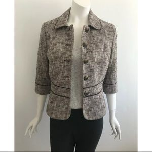Ann Taylor LOFT Tweed Blazer Jacket